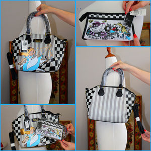 Loungefly Alice In Wonderland Bag & Makeup NWT
